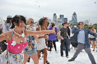 Snowball fight in Sept organised by Aer Lingus