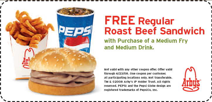 Sample Arbys Coupons