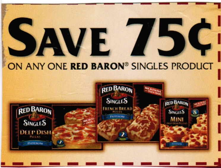 $1/1 Red Baron, Baron's Best Pizza Coupon! Zip , Foods, page 1 for me! For 14 oz or larger pizzas. This one's high value since Red Baron is such a cheap pizza! Does anyone know of .