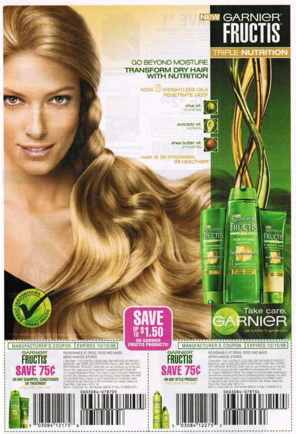 picture relating to Garnier Coupons Printable titled Printable Garnier Discount coupons: 2009