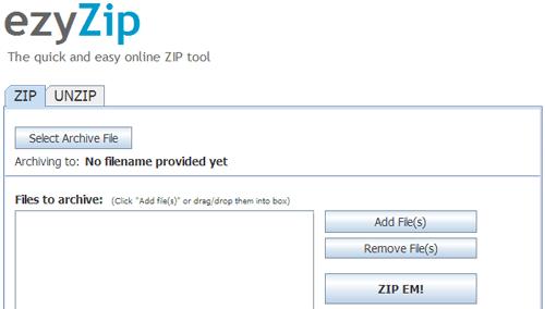 ezyZip Screenshot