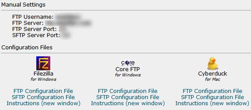 FTP Configurations
