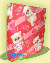 Caja para Regalos decorada con papel de Regalo