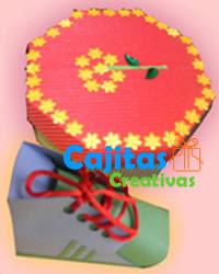 Caja para regalos con decoraciones para niños