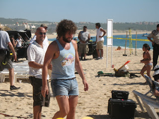 Adam Sandler filming 'You Don't Mess with the Zohan' on location in Cabo San Lucas (Playa Medano)
