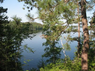 View of Weslemkoon Lake from the cottage porch