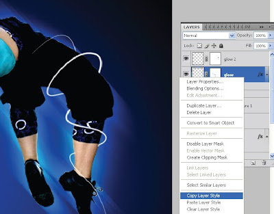 Tutorial Photoshop—Glowing Dance