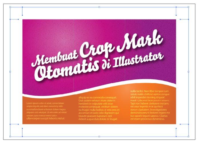 Membuat Crop Marks (Tanda Potong) Otomatis di Illustrator