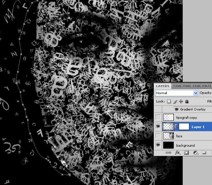 Membuat tipografi wajah dengan photoshop