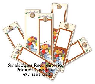 paginas ) Recordatorios Primera comunion Bookmarks first communion