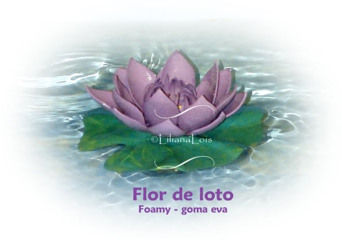 Flor de Loto en foamy - goma eva
