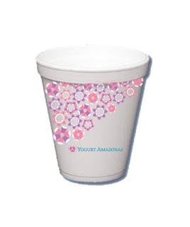 Marcaeidentidad vasos de yogurt mediano y grande con - Vasos para yogurt ...