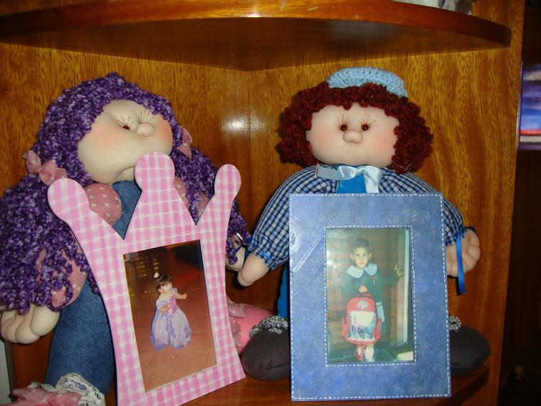 Portaretrato con muñeco