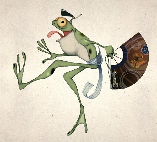 Creature of the day : Matsuri Frog ! ( Traditional and Photoshop )
