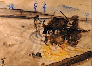 Indonesian Artist Thick Paint Affandi