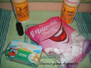 receta PASTEL CON FONDANT DE NUBES