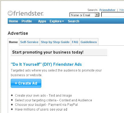 DIY Ads Friendster