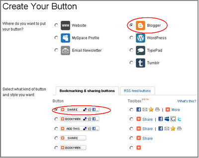 create your button