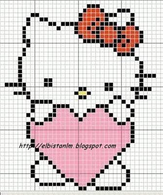 hello kitty örgü şeması