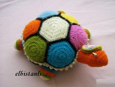 amigurimi kaplumbağa