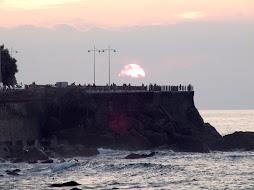 Puesta de sol en Donostia