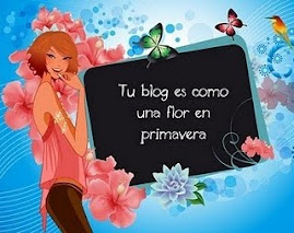 Premio: Tu blog es como una flor en primavera
