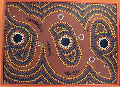 aboriginal art,  aboriginal dot painting