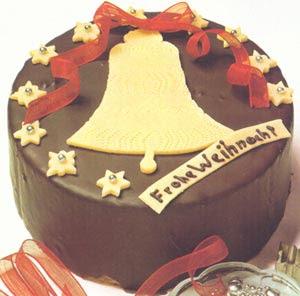 Шоколадный рождественский торт