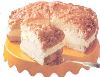 Миндальный пирог с кремом