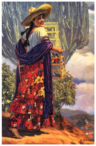 Mexican Calendar Art : Mexican calendar girls girl art pinterest