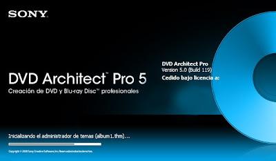 DVD Architect Pro 5.0 en Español + Crack + Manual de Usuario en Español Dibujo