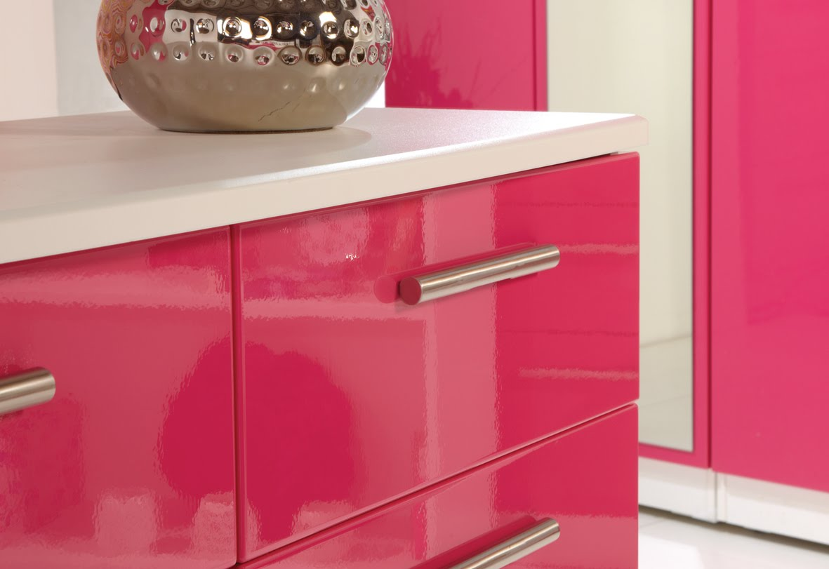 pink bedroom furniture. Pink High Gloss Bedroom Furniture Home Furnishings from Store 247