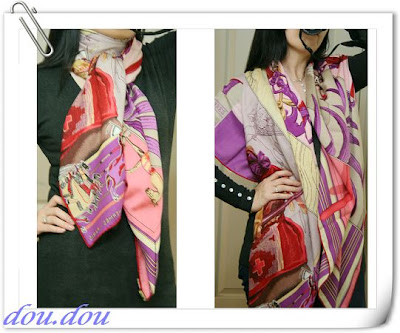 hermes scarf how to wear