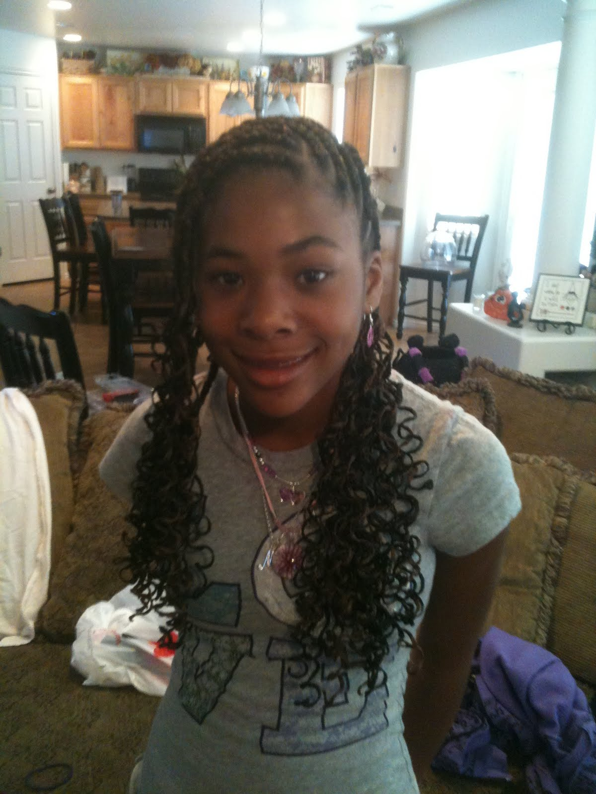 Two Braid Cornrow with Extension