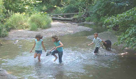 Kids in creek