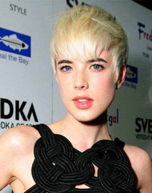 agyness deyn photo shoot. Model Agyness Deyn attends a