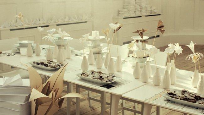Adornos Origami para tu mesa  decorando interiores com  Revista de