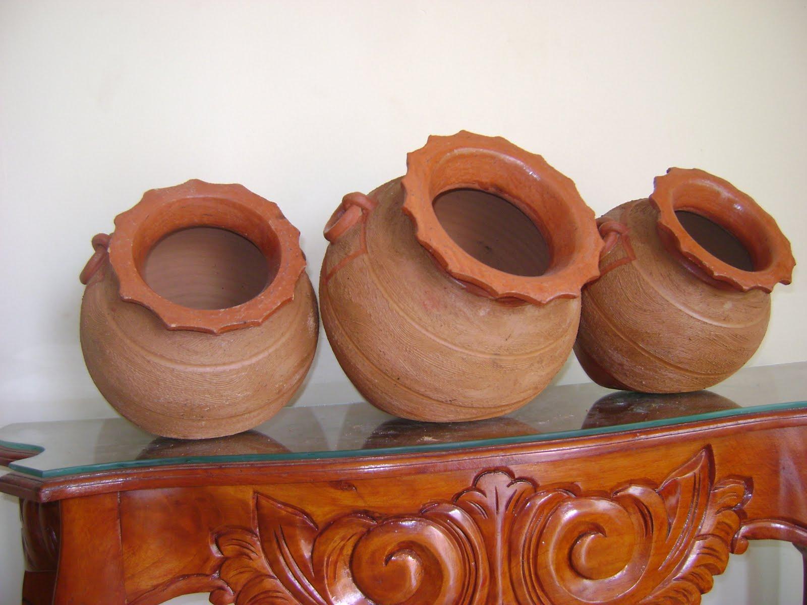 Potes y jardines tinajas for Tinajas de barro para jardin