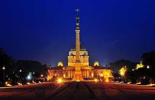 Rashtrapati Bhavan night Photo