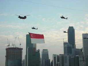Singapore's National Flag Flying Proud!