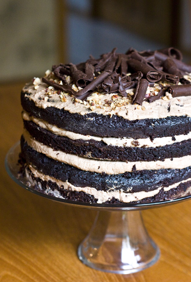 Erica's Sweet Tooth » Chocolate Hazelnut Mousse Layer Cake