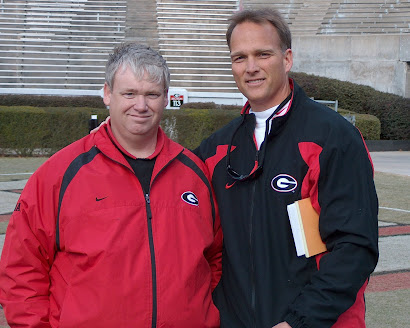 Coach Richt and I Between the Hedges