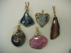 Twisted Silver Wire-Wrapped Stones