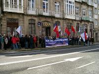 Mobilización no BBVA en Compostela