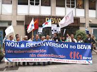 Mobilización no BBVA en Lugo