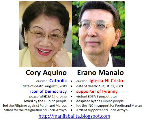 Erano Manalo and the Iglesia Ni Cristo was against the World renowned bloodless People Power (EDSA1). In April 2001, INC members were hurt and died during the violent anti-government EDSA 3.