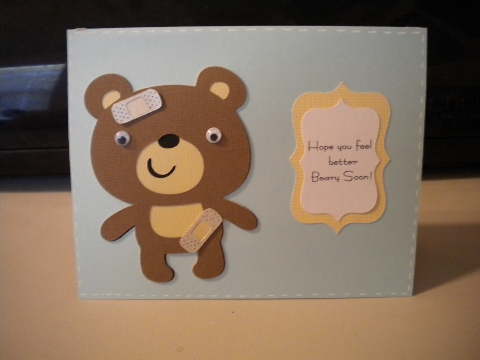 how to draw a feel better card homemade