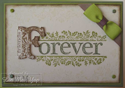 Card made with Stampin' Up! supplies