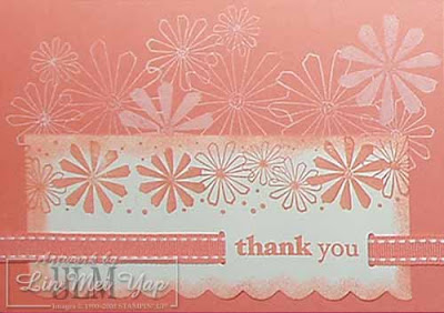 Another thank you card using Stampin' Up! supplies