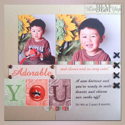Scrap page using Stampin' Up! Supplies